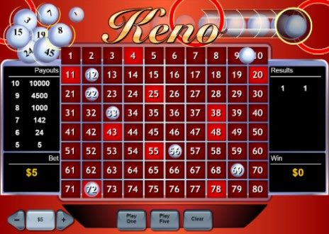 Keno games available at Mansion Casino