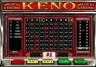 Keno games available at Uptown Aces