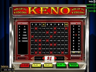 Play Keno at SlotoCash casino